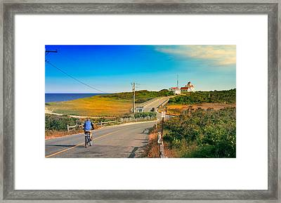 A Road To Coast Guard Beach Eastham Cape Cod Framed Print by Dapixara Art