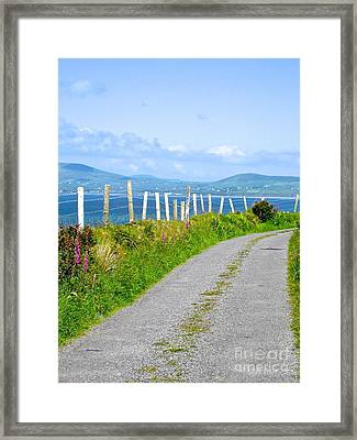 Framed Print featuring the photograph A Road To Waterville by Suzanne Oesterling