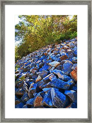 Framed Print featuring the photograph A Rocky Hill by Naomi Burgess