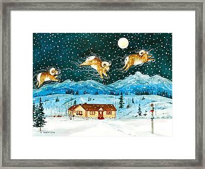A Rocky Mountain Dream                             Framed Print by Virginia Ann Hemingson