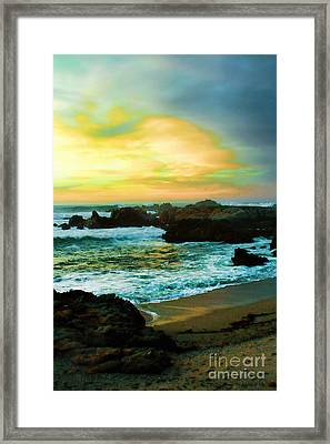 A Rocky Sunset Framed Print