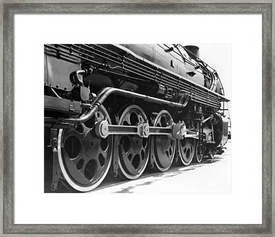 A Roller-bearing Locomotive. Framed Print by Underwood Archives