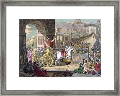A Roman Triumph, Illustration Framed Print by Jacques Grasset de Saint-Sauveur
