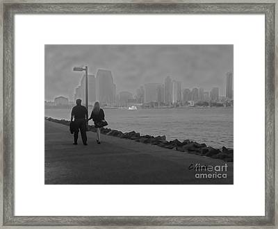 A Romantic Walk 2 Framed Print