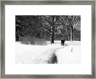 A Romantic Winter Walk Framed Print