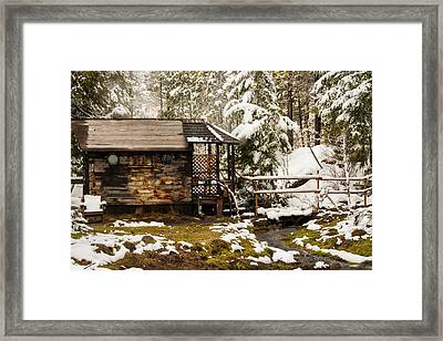 A Roof And A Hot Spring Framed Print