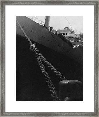 A Rope On A Ship Framed Print