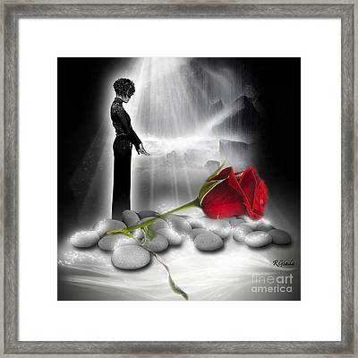 Framed Print featuring the digital art A Rose For Whitney - Fantasy Art By Giada Rossi by Giada Rossi
