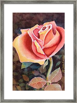 A Rose For You Framed Print by Marilyn Jacobson
