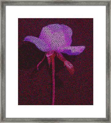 A Rose Inthe Dark Pop Art Framed Print