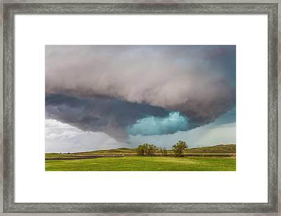 A Rotating Supercell Thunderstorm Framed Print by Mike Theiss