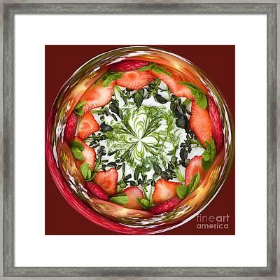 A Round Of Fresh Fruit Salad Framed Print