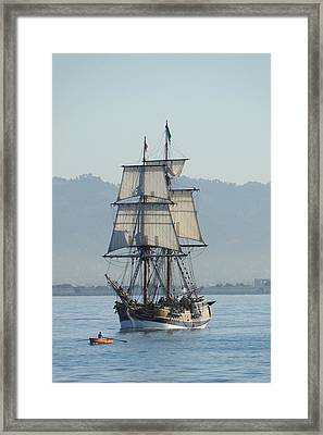 A Row With Lady Washington Framed Print by Barrie Woodward