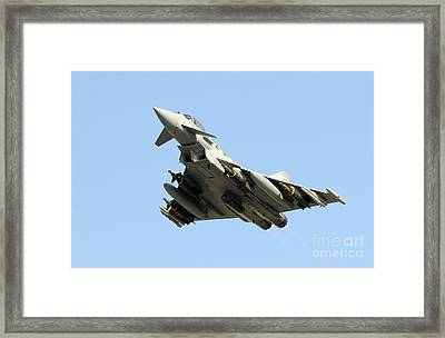 A Royal Air Force Typhoon  Framed Print by Paul Fearn