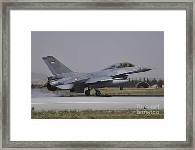 A Royal Jordanian Air Force F-16am Framed Print