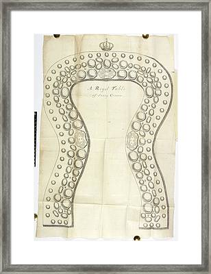 A Royal Table Of Sixty Covers Framed Print by British Library
