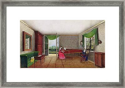 A Russian Interior Framed Print by Micheline Blenarska