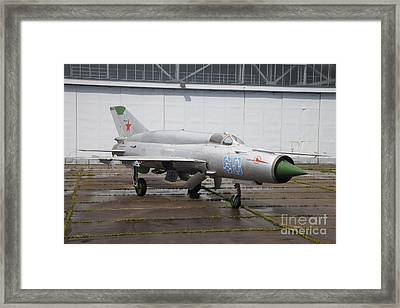 A Russian Mig-21smt Fighter Plane Framed Print by Timm Ziegenthaler