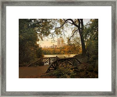 A Rustic City View Framed Print by Jessica Jenney