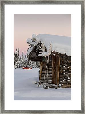 A Rustic Winter Retreat Framed Print
