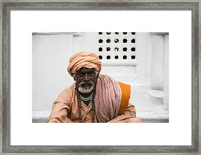 A Sadhu During Shivaratri Festival In Kathmandu Framed Print by Dutourdumonde Photography