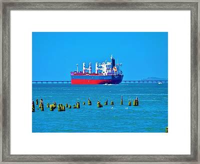 A Safe Harbor Framed Print