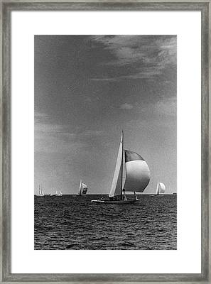 A Sailboat Called Columbia Framed Print