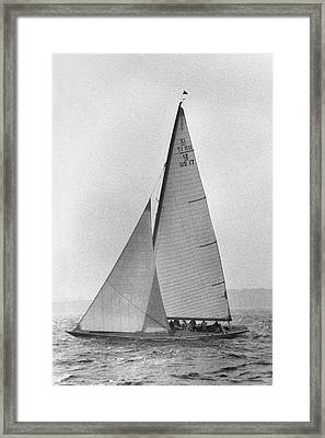 A Sailboat Framed Print by Toni Frissell