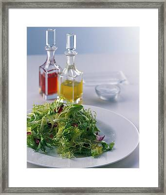 A Salad With Dressings Framed Print