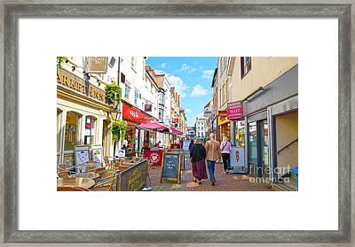 A Salisbury Street Stroll Framed Print