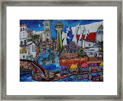 A Salute To San Antonio Framed Print by Patti Schermerhorn