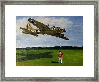 A Salute To The Greatest Generation Framed Print