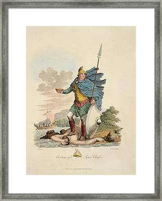 A Saxon Chief Framed Print by British Library