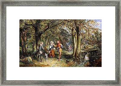 A Scene From As You Like It Rosalind Celia And Jacques In The Forest Of Arden Framed Print
