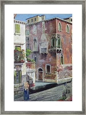 A Scene In Venice Framed Print