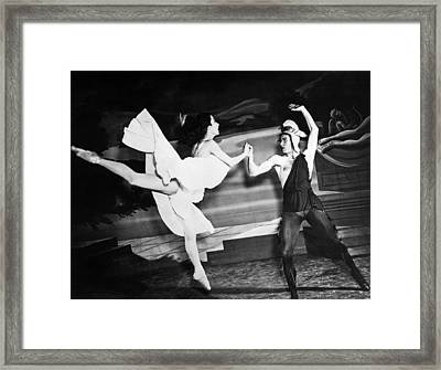 A Scene With The Russian Ballet Framed Print by Underwood Archives