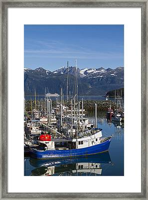 A Scenic Harbor Framed Print by Tim Grams
