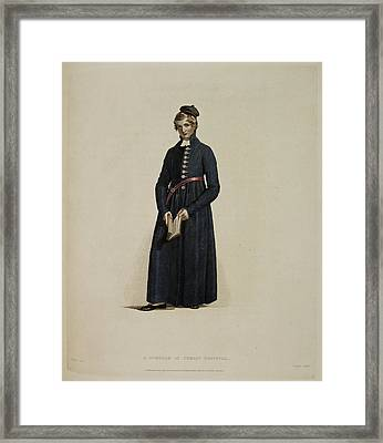 A Scholar Of Christ Hospital Framed Print by British Library