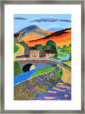 a Scottish highland lane Framed Print