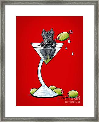 A Scottish Martini Framed Print by Kim Niles