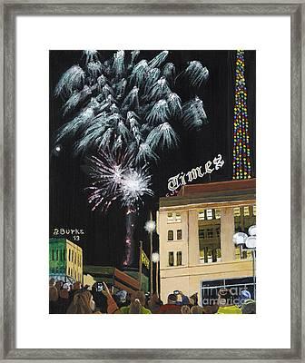 A Scranton Times Christmas Framed Print