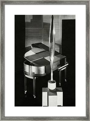 A Sculpture Called Bird In Flight Designed Framed Print