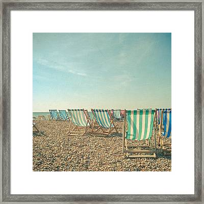 A Sea View Framed Print by Cassia Beck