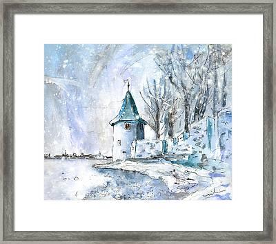 A Seagull In Winter In Lindau Framed Print by Miki De Goodaboom