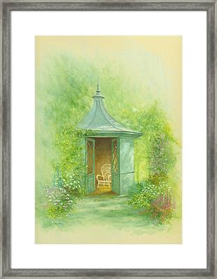 A Seat In The Summerhouse Framed Print by Garry Walton