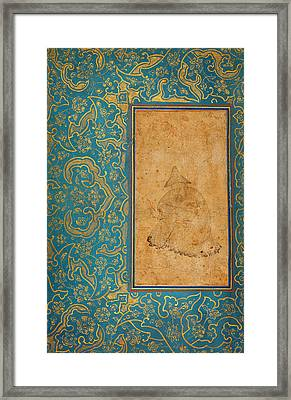 A Seated Dervish In A Landscape Framed Print by Celestial Images