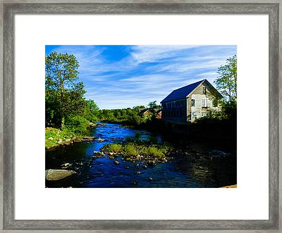 A Sebec View Framed Print by Heather Sylvia