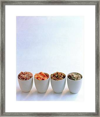 A Selection Of Spreads Framed Print