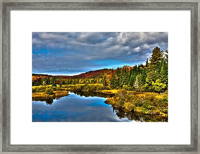 A September Day At The Green Bridge Framed Print by David Patterson