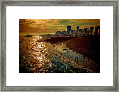 Framed Print featuring the photograph A September Evening In Brighton by Chris Lord